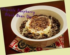 A Kansas State Tradition:   Raspberry Chipotle Black Bean Dip         My fiancee, Darren, attended Kansas State University; as well as ...