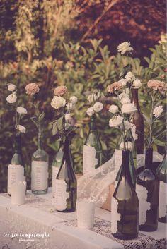 wine bottle tableau de mariage wedding