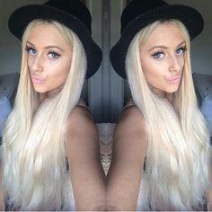 ZALA Ice Queen Platinum blonde clip in hair extensions