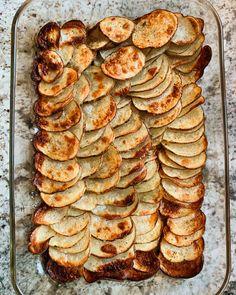 Skinny Potatoes Recipe — Roasted Domino Potatoes | Kitchn Potato Recipes, New Recipes, Snack Recipes, Cooking Recipes, Favorite Recipes, Potato Dishes, Potato Snacks, Budget Recipes, Diabetic Recipes
