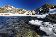 Bucura Lake - Snow is still present at the end of the spring