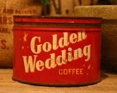 Antique coffee tin! Coffee and red love!