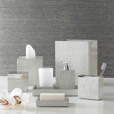 Delano Silver Bath Accessories by Kassatex | Gracious Style