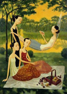 Shuai Mei Contemporary Chinese Artist. The historical influences are very clear in so many Chinese works.