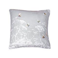 Meadow Bees Cushion August Grove