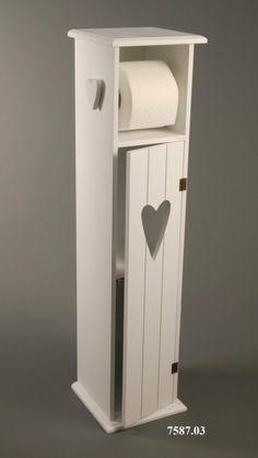 Toilettenpapierhalter Toilettenpapierständer Holz weiß - H75cm: Amazon.de: Küche & Haushalt