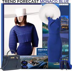 """2013 TREND: MONACO BLUE"" by sylandrya ❤ liked on Polyvore"