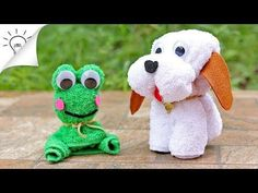 How to Make Towel Animals [Dog, Frog, Butterfly] - YouTube