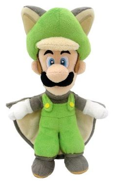 Super Mario Plush Series Plush Doll: 10-Inch Squirrel / Musasabi Luigi:Amazon:Toys & Games