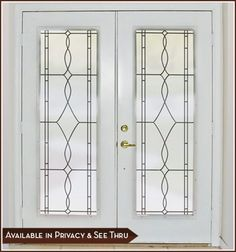 Add privacy and an upscale new look to glass doors, side lights, windows, shower doors and more with the Allure Leaded Glass design.