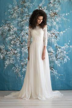 KNOX - Emmaline Bridal   #sleeves #lace #bridal #bride #offshoulder #flowly #kc