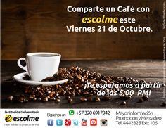 @Escolmeeduco Comparte con ESCOLME el aroma y el sabor de un café en la plazoleta de la institución. ¡Te esperamos!