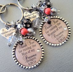 MOTHER of the BRIDE gift / mother of the groom gift by buttonit Thank you for raising the woman of my dreams