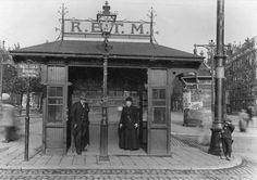 Wachthuisje openbaar vervoer op de Goudschesingel, 1916