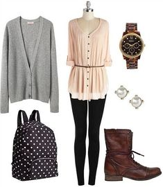 College fashion outfit