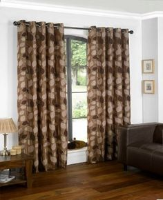"""Lucille Eyelet Curtains - Chocolate 66"""" wide x 72"""" drop , http://www.amazon.co.uk/dp/B009X798I6/ref=cm_sw_r_pi_dp_gIisrb1SRW37E"""