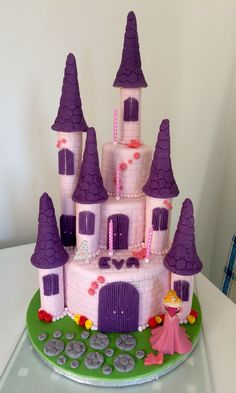 my first princess castle cake | cakes & cake decorating ~ daily