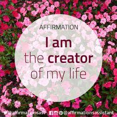 "Affirmation: ""I am the creator of my life"" #abundance #positive #lawofattraction #loa #affirmation #affirmations #positiveaffirmations #positiveaffirmation #success #happiness #motivation #motivational #abundant #successtrain #manifest #achieve #joytrain #ThriveTOGETHER"