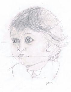 Bleistiftzeichnung; Kindergesicht/ child pencil Portrait