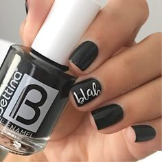 Adelis Lebron Nail Art: How to do lettering on nails!