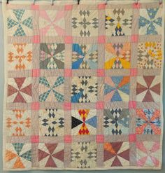 Antique Quilt Handmade Primitive 1920s Maltese Cross