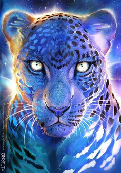 Giving this spirit jaguar to help you in your game against the titans this weekend. Big Cats Art, Cat Art, Psychedelic Art, Fantasy Creatures, Mythical Creatures, Animal Paintings, Animal Drawings, Illustration Photo, Tiger Art