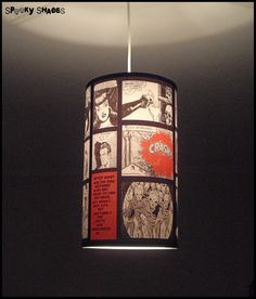 Comic Strip pendant lamp shade lampshade  SPOOKY by SpookyShades, €85.00