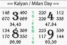 Today Super Strong Kalyan Matka Newspaper Chart (10-Feb-2016)  Satta Matka