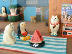 【现货】日本DECOLE zakka 2015夏 企鹅\白熊 系列玩偶 摆件-淘宝网
