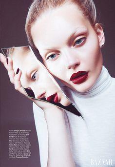 Marlen Nohl for Bazaar Serbia by Christoph Klutsch (Makeup by Christian Schild)