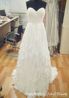 {Process Show Time} Hand-made Chiffon Bridal Dress at TulleandChantilly.com