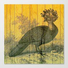 Bird on Wood Canvas