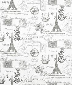 Pink French Fabric Premier Prints French stamp eiffel tower bella pink storm grey white - yard or more - SHIPS FAST Grey Home Decor, Home Decor Fabric, White Decor, Decoupage, Pink Paris, French Script, Shabby Chic, Custom Cushions, French Fabric