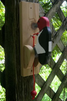 by NatureWoodcraft on Etsy Summer Crafts, Crafts For Kids, Woody Woodpecker, Stainless Steel Screws, Hair Decorations, Button Art, Door Knockers, Craft Party, Dremel