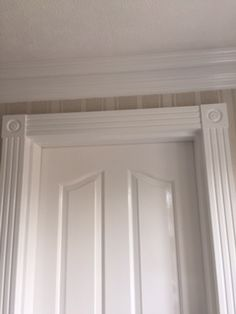 fancy pillars rosettes and coving