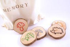 Memory aus Holzscheiben von Ringelspatz auf DaWanda.com