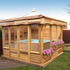 4m Square Gazebo With 3 Trelis Sides And Standard Skylight
