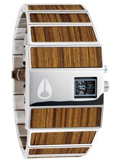 Nixon Rotolog in teak; would be a good reason to wear watches. The teak is cool too. Modern Watches, Luxury Watches, Cool Watches, Watches For Men, Nixon Watches, Unique Watches, Vintage Watches, Bling Bling, Mens Watches Online