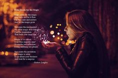Make Room for the Magic is an inspirational poem about not trying to force things to happen but instead simply creating space for them. Let It Flow, Let It Be, Inspirational Poems, Poetry Books, Do Anything, Reflection, Magic, Shit Happens, Room