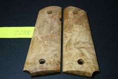 FIT 1911 CURLY BIRDSEYE BURL MAPLE Grips Colt 45 Mag Full Size Government quilt #206grips