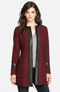 Laundry by Shelli Segal Ribbon Trim Tweed Coat (Regular & Petite) available at #Nordstrom Item# 1134050 $139.90