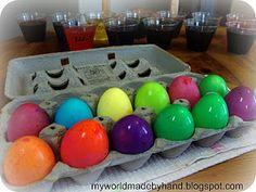 vibrant easter egg colors