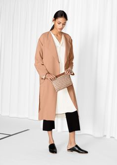 Belted Trench Coat in Beige | & Other Stories