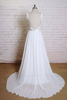 BMbridal Square Neck Lace Chiffon A-line Wedding Dress On Sale | BmBridal