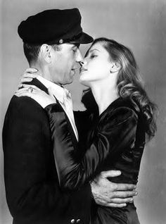 humphrey bogart and lauren bacall. that was love. he was older, she was a kid, still it was a love you have once in your life. love conquers all, even time.