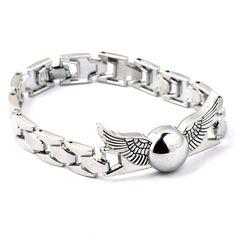 #HarryPotter Silver Snitch #Bracelet Harry Potter Snitch, Harry Potter Items, Harry Potter Merchandise, Harry Potter Wand, Harry Potter Movies, Wands, Great Gifts, Bling, Jewellery