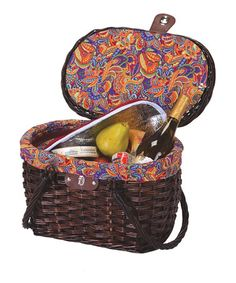 Take a look at this Brown Willow Brigham Cooler Picnic Basket by Wine & Cheese Collection on #zulily today!