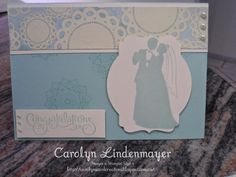 Carolyn's Card Creations: Marry Me - a Wedding Card