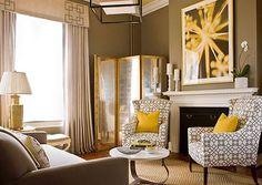 Coole praktische Wohnzimmer Designs gelb farben nuancen