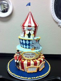 under the big top circus cake http://sweetcakes.biz/